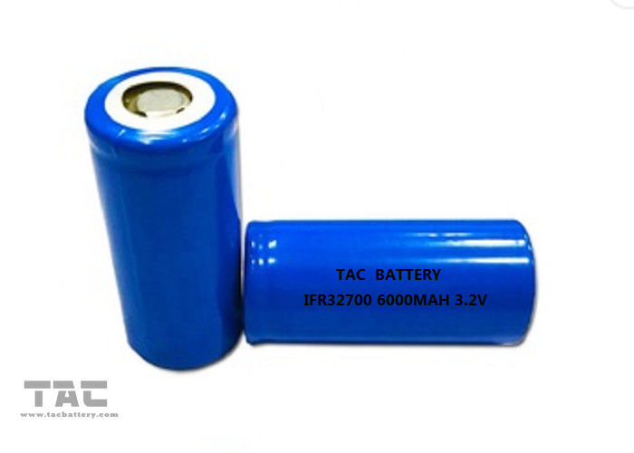 32700 6000mah Lifepo4 Battery Cell 3.2v 6ah For Solar Light Battery 12 Month Warranty