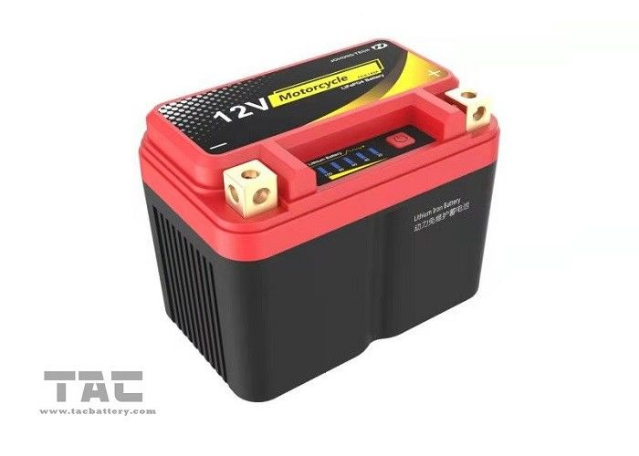 ROHS Portable Car Jump Starter , 10AH Lifepo4 Motorcycle Starter Battery Pack High Power Deep Circle