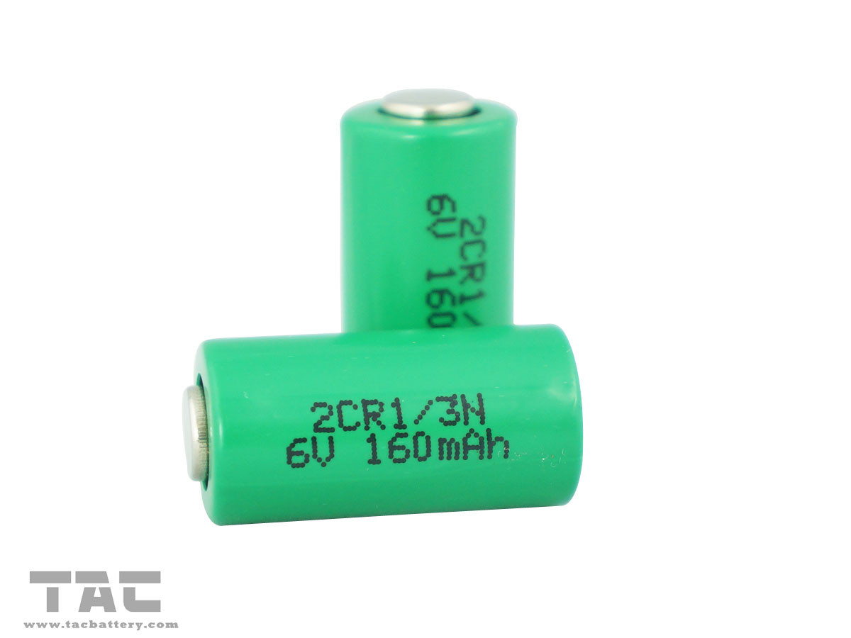 6V 2CR-1/3N 160mAh Lithium Cylindrical Li-Mn Battery for GPS tracking Teal time clock